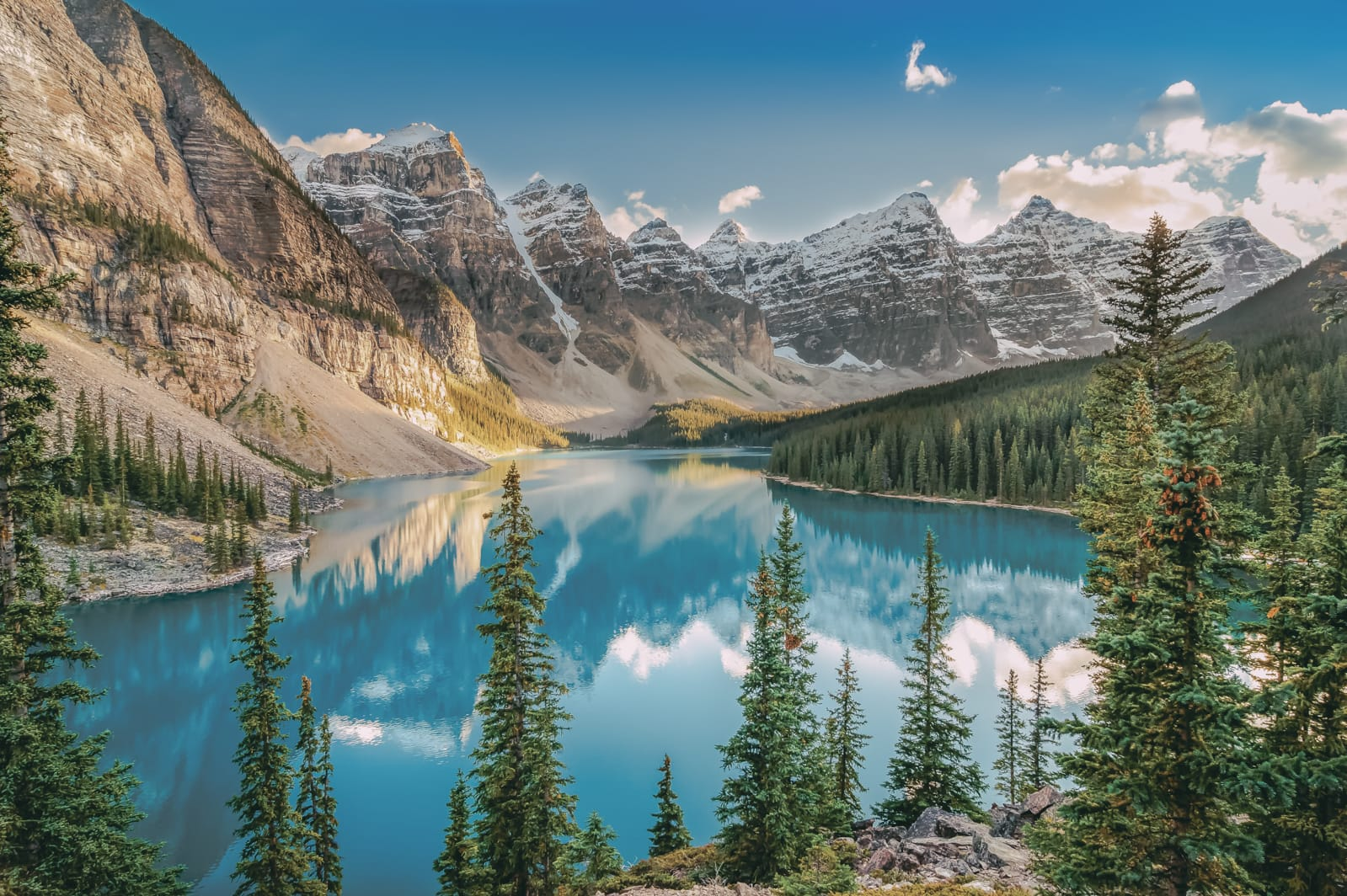 alpine lake in the Canadian rockies