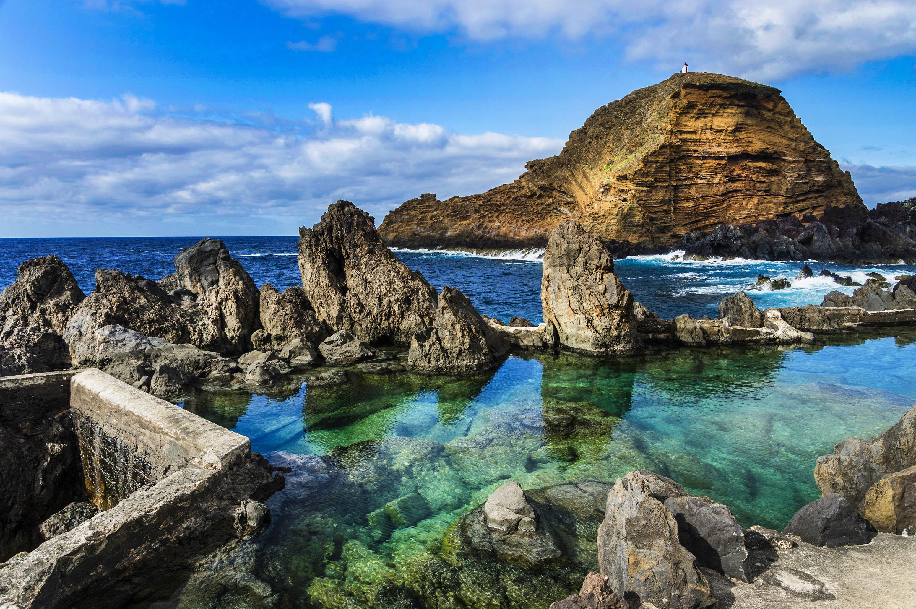 rocky beach off Atlantic Ocean