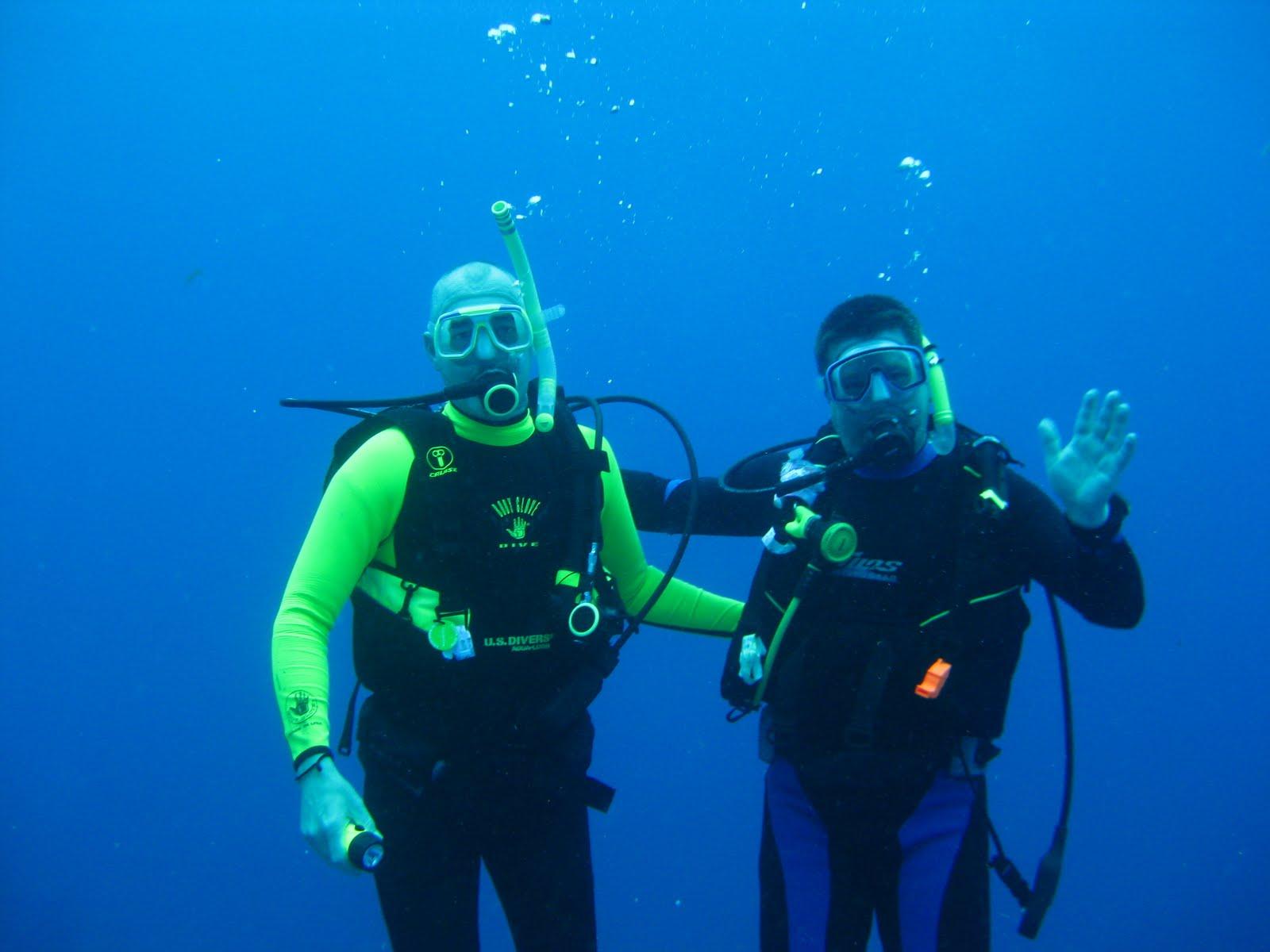 two men divers