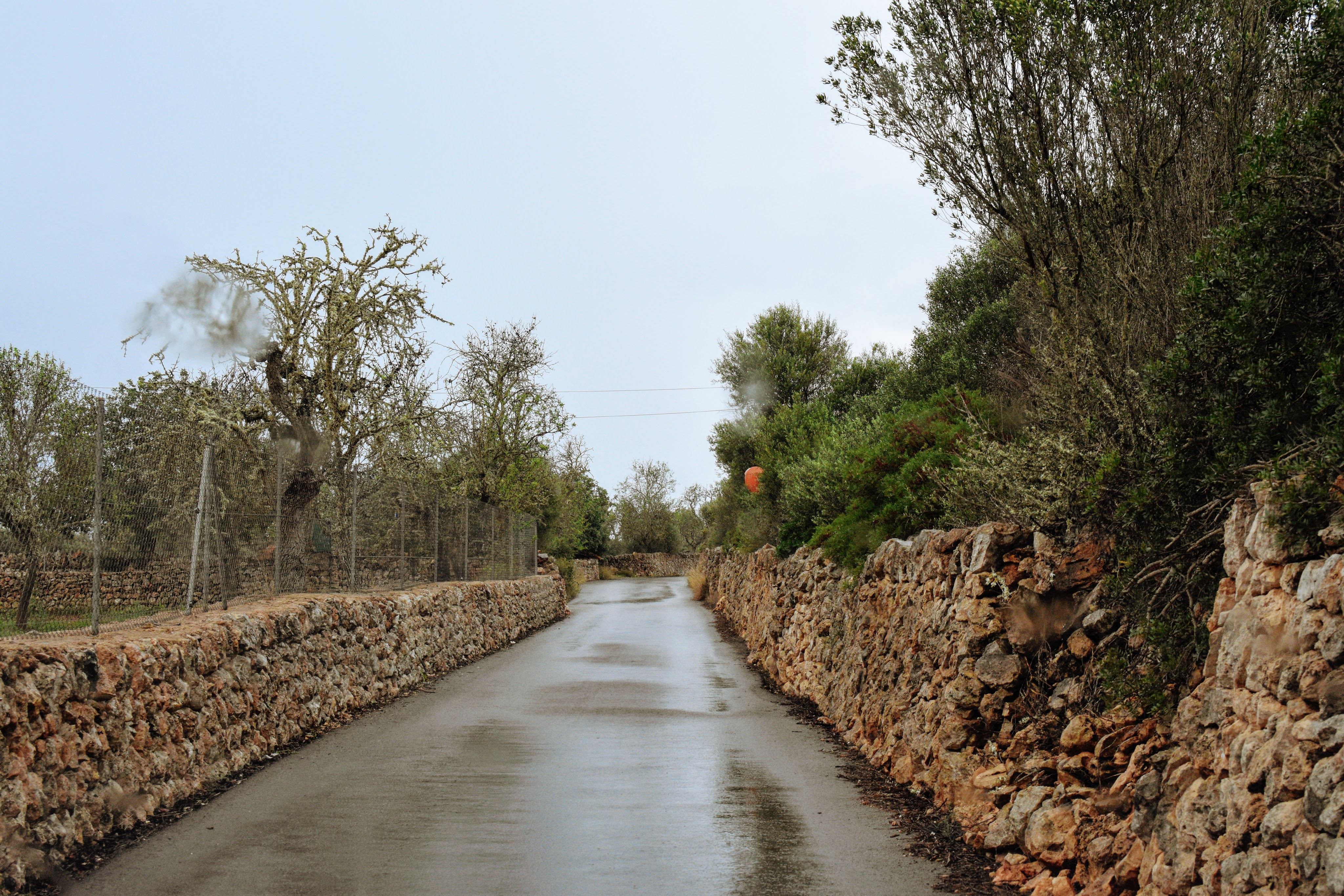 roads with rock fencing
