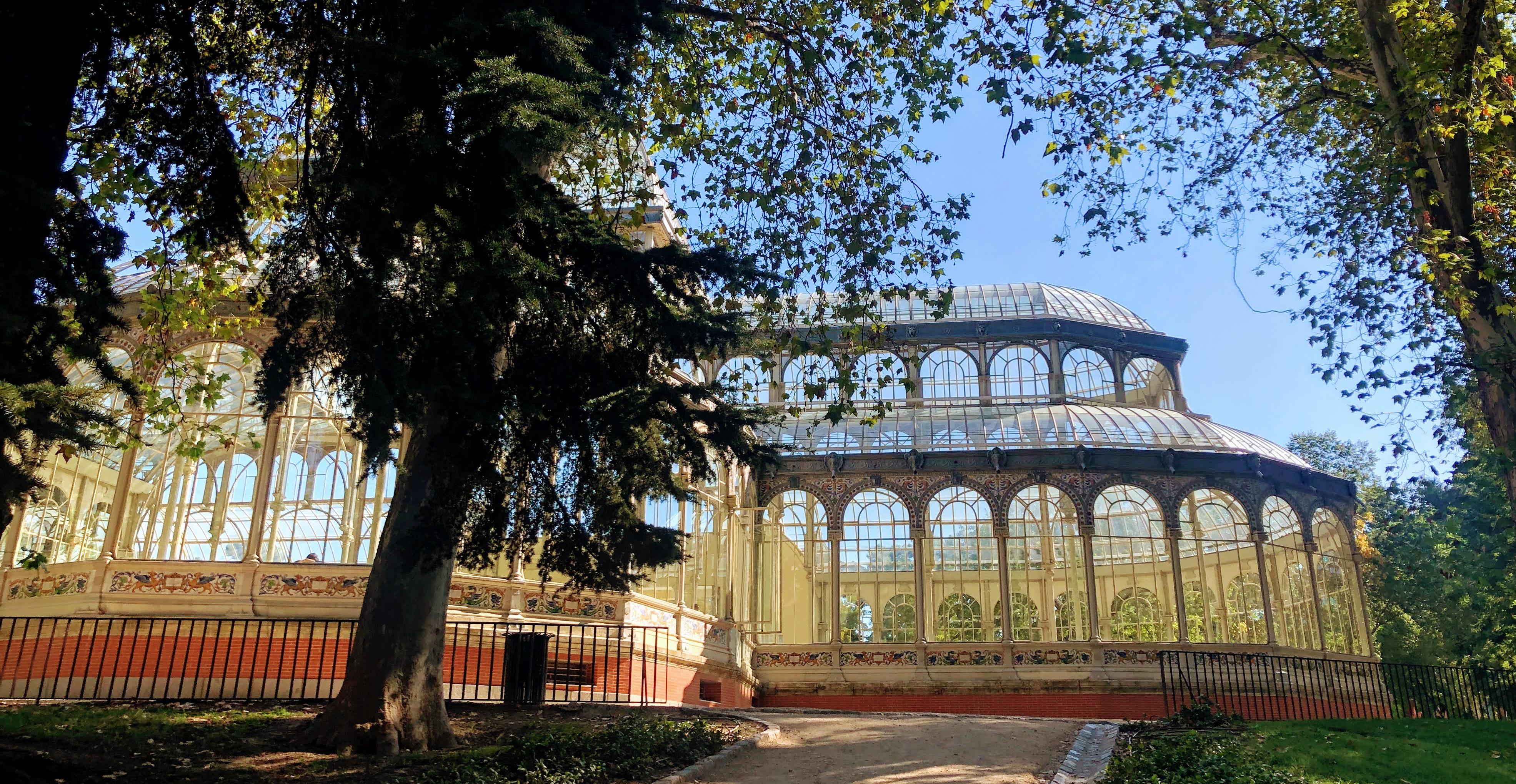 palace made of glass
